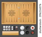 template for backgammon game | Shutterstock .eps vector #396216376