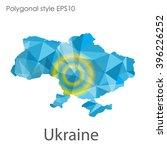 ukraine map in geometric... | Shutterstock .eps vector #396226252