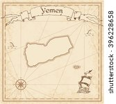 yemen old treasure map. sepia... | Shutterstock .eps vector #396228658