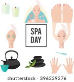vector spa day elements. spa... | Shutterstock .eps vector #396229276