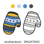 coloring book for children ... | Shutterstock .eps vector #396247042