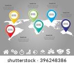 3d vector infographic banner...   Shutterstock .eps vector #396248386