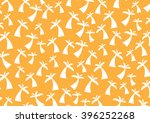 pattern white coconut tree on... | Shutterstock .eps vector #396252268