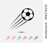 set of  black soccer vector icon