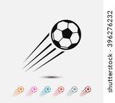 set of  black soccer vector...