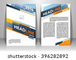 abstract vector modern flyers... | Shutterstock .eps vector #396282892
