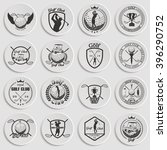 set of vintage golf labels ... | Shutterstock .eps vector #396290752