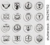 set of vintage golf labels ... | Shutterstock .eps vector #396290752