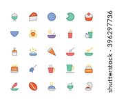 food flat bold vector icons 13 | Shutterstock .eps vector #396297736