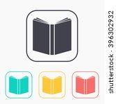 open book color icon set  | Shutterstock .eps vector #396302932