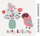 happy birthday. print design   Shutterstock .eps vector #396303052