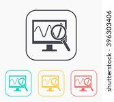 monitoring color icon set