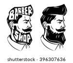 vector black men with beard... | Shutterstock .eps vector #396307636