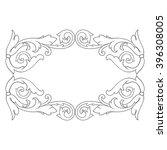 vintage baroque frame scroll... | Shutterstock . vector #396308005