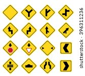 set of yellow transportation... | Shutterstock .eps vector #396311236