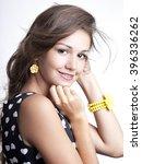 portrait of a beautiful woman.... | Shutterstock . vector #396336262