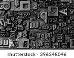 metal letterpress types. a... | Shutterstock . vector #396348046