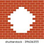 wall vector break | Shutterstock .eps vector #39636355