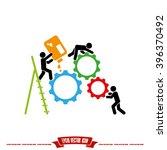 gears people icon   Shutterstock .eps vector #396370492