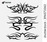 maori tribal tattoo   set of 3... | Shutterstock .eps vector #396371062