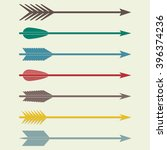 arrows set. bow arrows... | Shutterstock . vector #396374236