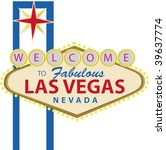 las vegas sign  welcome to... | Shutterstock .eps vector #39637774