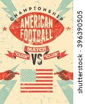 american football typographical ... | Shutterstock .eps vector #396390505
