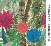 vintage style seamless pattern... | Shutterstock .eps vector #396398812