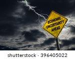 economic uncertainty sign...   Shutterstock . vector #396405022