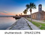 st augustine fort at sunset in... | Shutterstock . vector #396421396