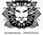 a lion. africa. animal. zoo.... | Shutterstock .eps vector #396425242