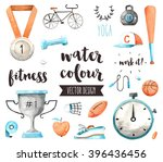 premium quality watercolor... | Shutterstock .eps vector #396436456