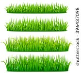 fresh green grass borders set... | Shutterstock .eps vector #396437098