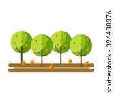 flat vector illustration apple... | Shutterstock .eps vector #396438376