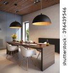 3d rendering stylish dining... | Shutterstock . vector #396439546
