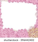 lilac flowers wedding card with ... | Shutterstock .eps vector #396442402