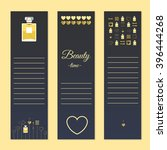 perfume and beauty gift cards... | Shutterstock .eps vector #396444268