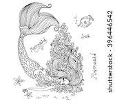 vector hand drawn beautiful... | Shutterstock .eps vector #396446542