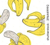 seamless background with banana.... | Shutterstock .eps vector #396449992