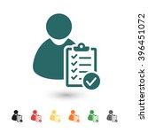 set of  blue user checklist... | Shutterstock .eps vector #396451072