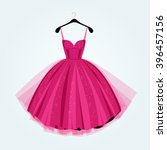 pink party dress.prom dress... | Shutterstock .eps vector #396457156