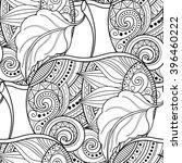 vector seamless monochrome...   Shutterstock .eps vector #396460222