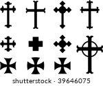 vector crosses   religious... | Shutterstock .eps vector #39646075