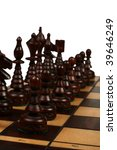 chessmen close up on a white... | Shutterstock . vector #39646249