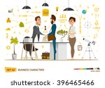 business cartoon characters... | Shutterstock .eps vector #396465466