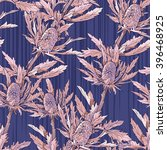 seamless pattern of carduus.... | Shutterstock .eps vector #396468925