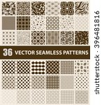 pack of 36 retro styled brown... | Shutterstock .eps vector #396481816