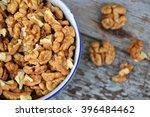 walnuts. walnut kernels. clean... | Shutterstock . vector #396484462
