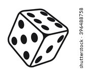 dice icon vector illustration... | Shutterstock .eps vector #396488758