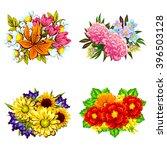 flower set | Shutterstock .eps vector #396503128
